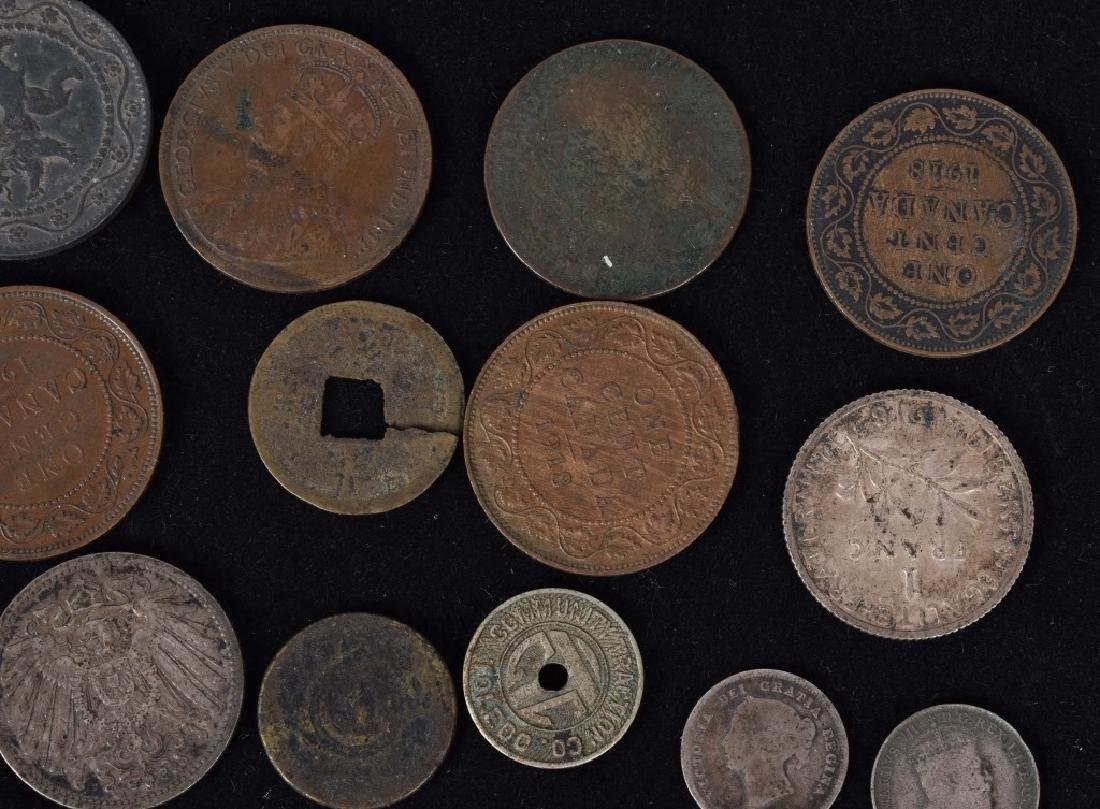 FOREIGN SILVER and COPPER COIN LOT - 4
