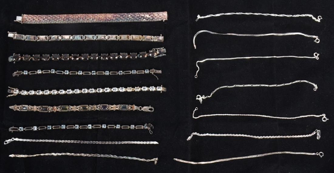 LARGE LOT of STERLING SILVER BRACELETS & MORE