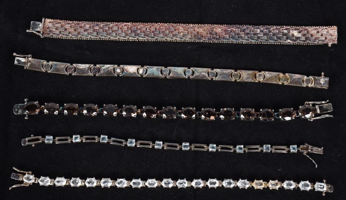 LARGE LOT of STERLING SILVER BRACELETS & MORE - 2
