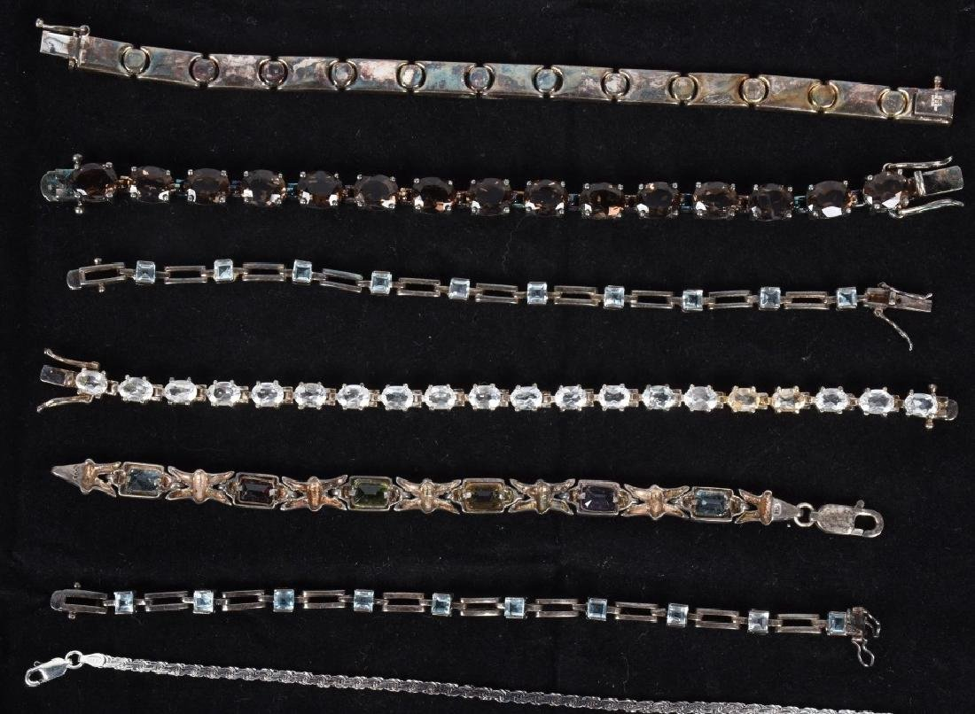 LARGE LOT of STERLING SILVER BRACELETS & MORE - 3