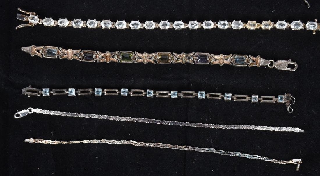 LARGE LOT of STERLING SILVER BRACELETS & MORE - 4