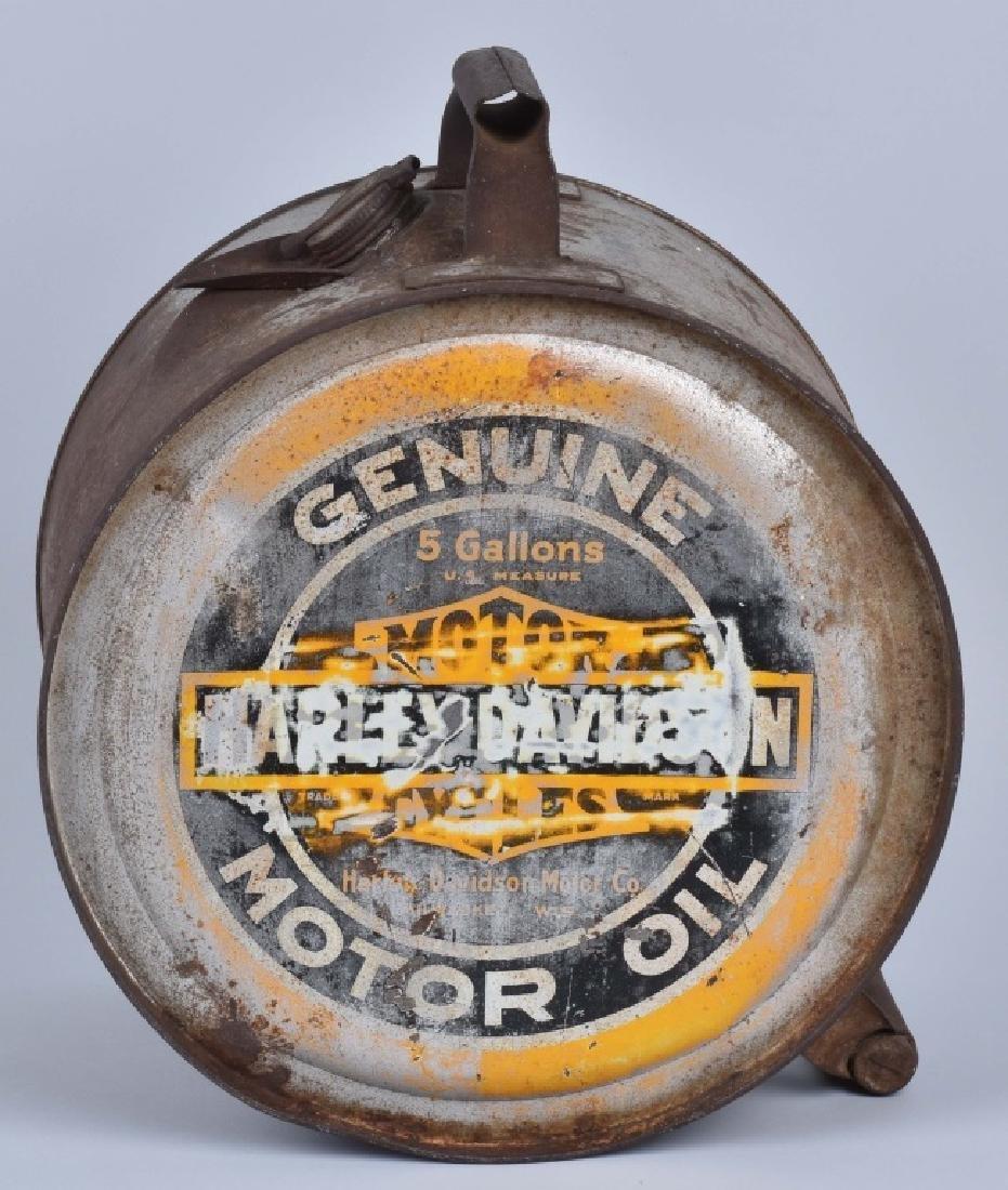 1920'S HARLEY DAVIDSON 5 GALLON TIP OIL CAN