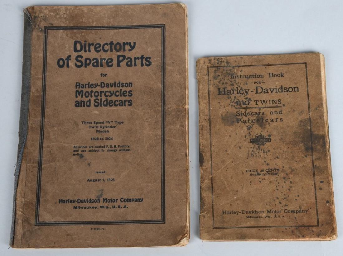 1920s HARLEY DAVIDSON PARTS & INSTRUCTION BOOKS