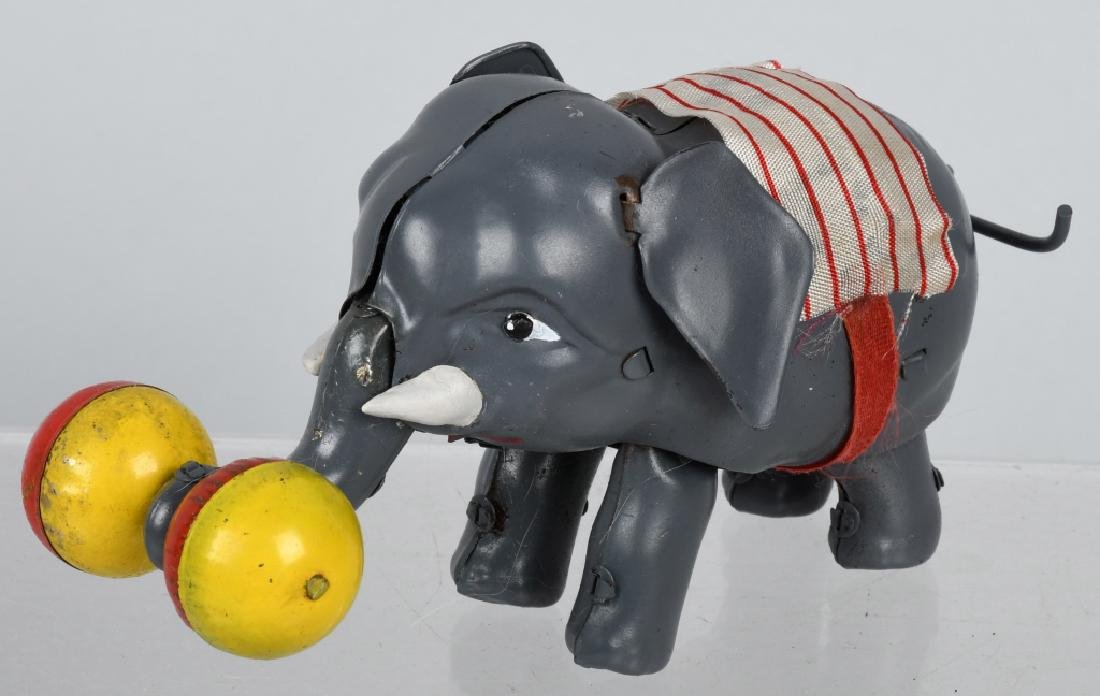 JAPAN 1930's TIN WINDUP CIRCUS ELEPHANT, BOXED - 2
