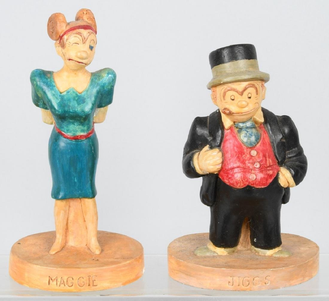 1930'S MAGGIE and JIGGS CHALK CHARACTER FIGURES