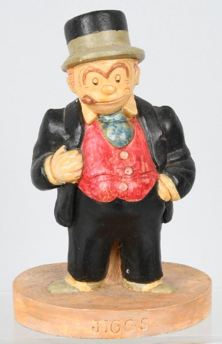 1930'S MAGGIE and JIGGS CHALK CHARACTER FIGURES - 2