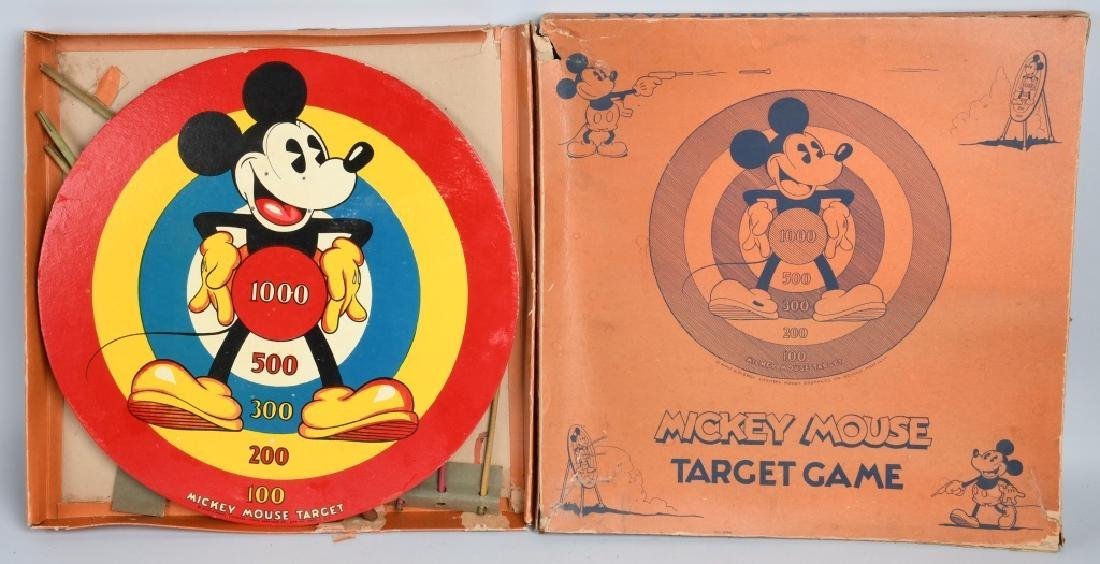 MICKEY MOUSE WDE TARGET GAME, MARX BROS, BOXED