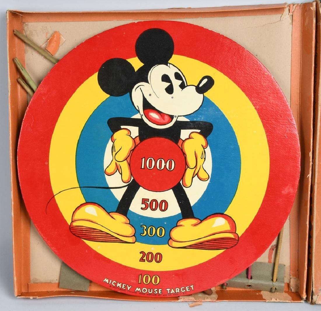 MICKEY MOUSE WDE TARGET GAME, MARX BROS, BOXED - 2