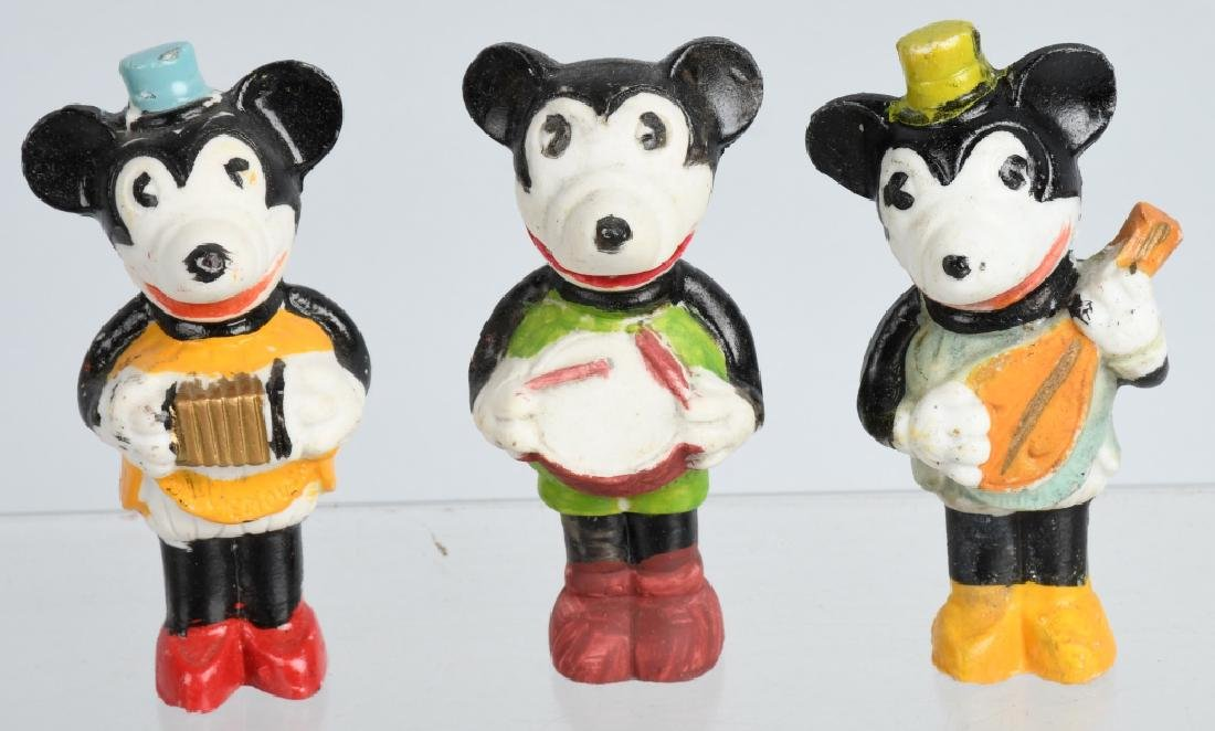 1930's MICKEY MOUSE, 3 PIECE BISQUE SET, BOXED - 2