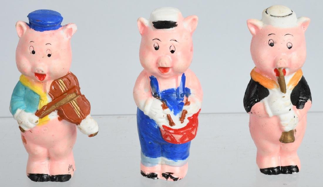 1930's WDE 3 LITTLE PIGS, BISQUE SET, BOXED - 2
