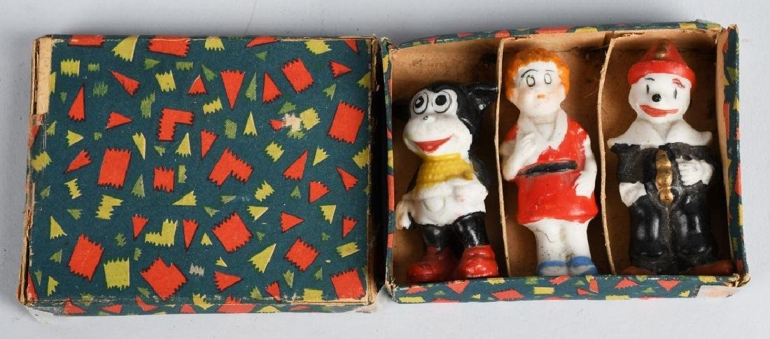1930's JAPAN COMIC CHARACTER BISQUE SET, BOXED