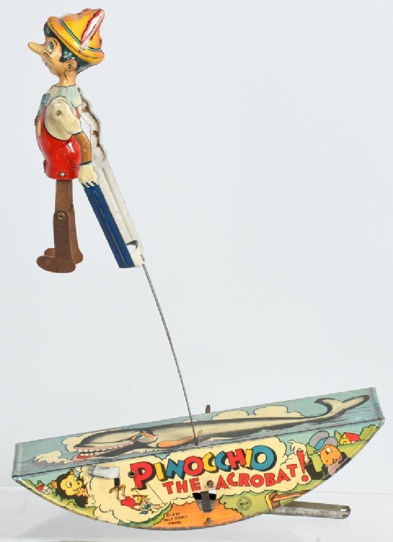 1939 MARX PINNOCHIO THE ACROBAT TIN WINDUP TOY