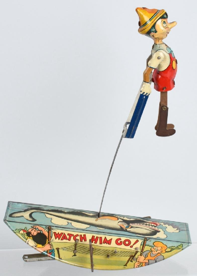 1939 MARX PINNOCHIO THE ACROBAT TIN WINDUP TOY - 3