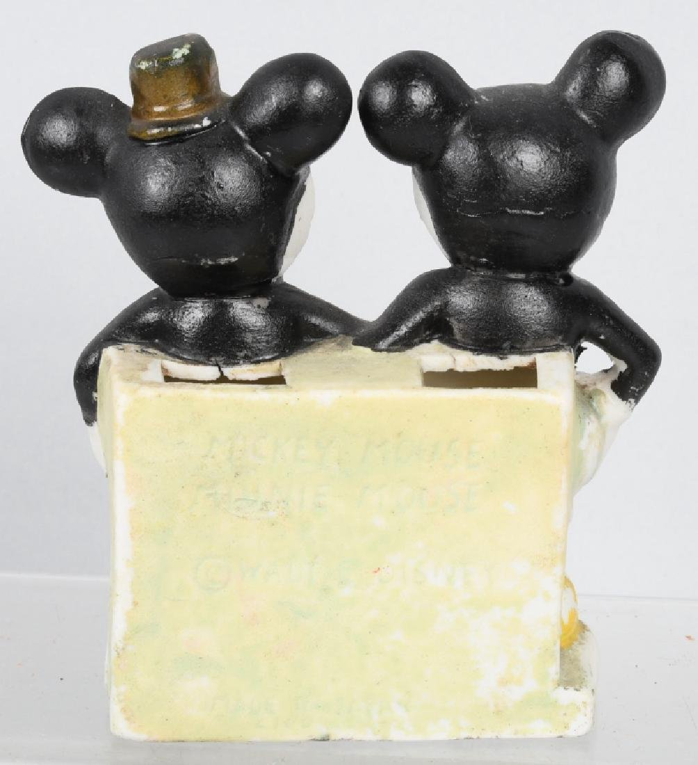 1930's MICKEY & MINNIE TOOTHBRUSH HOLDER - 2