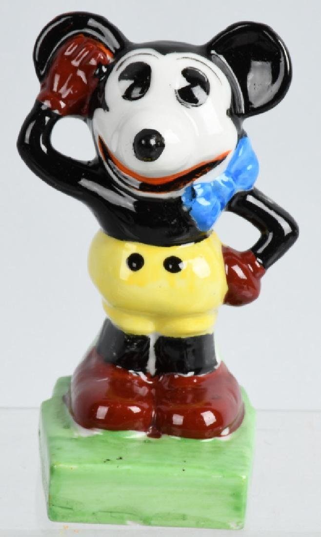1930'S JAPAN MICKEY MOUSE GLAZED BISQUE FIGURE