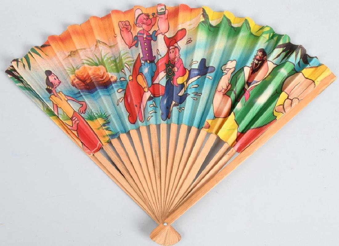 VINTAGE POPEYE and FRIENDS COLOR FAN