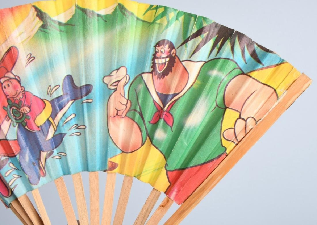 VINTAGE POPEYE and FRIENDS COLOR FAN - 2