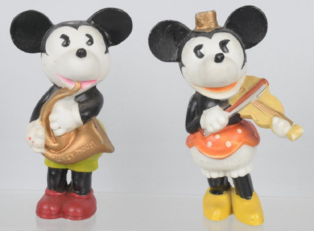 1930'S JAPAN BISQUE MICKEY & MINNIE LARGE FIGURES