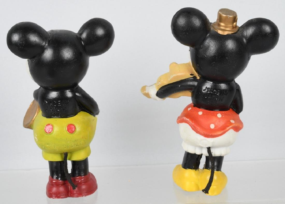 1930'S JAPAN BISQUE MICKEY & MINNIE LARGE FIGURES - 2