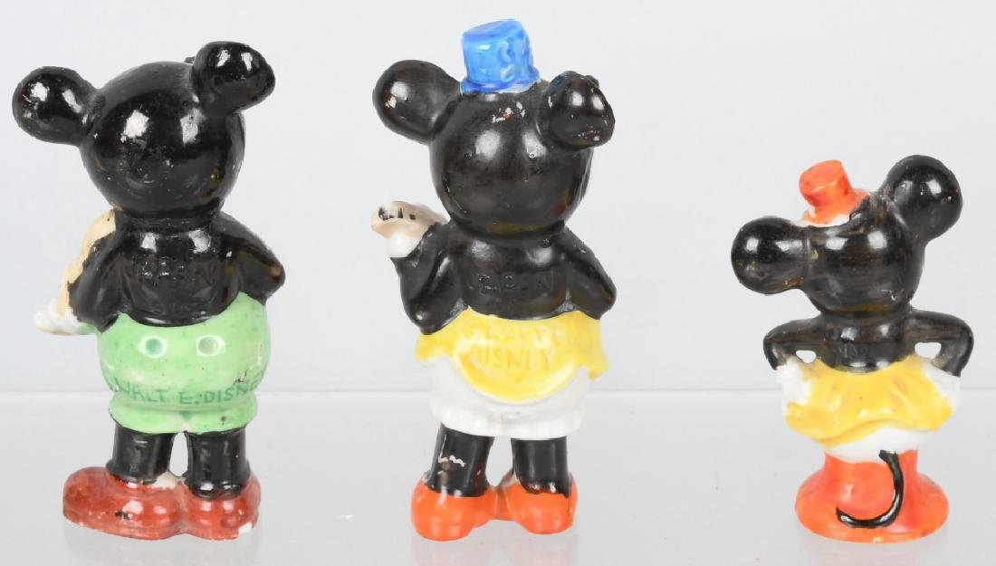 3-1930's MICKEY& MINNIE GLAZED BISQUE FIGURES - 2