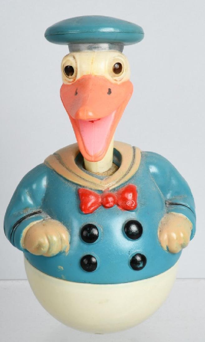 1930's JAPAN CELLULOID DONALD DUCK ROLLY POLLY
