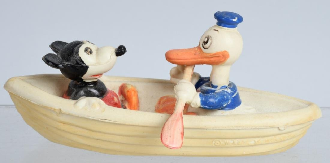 1930's JAPAN CELLULOID DONALD & MICKEY in BOAT