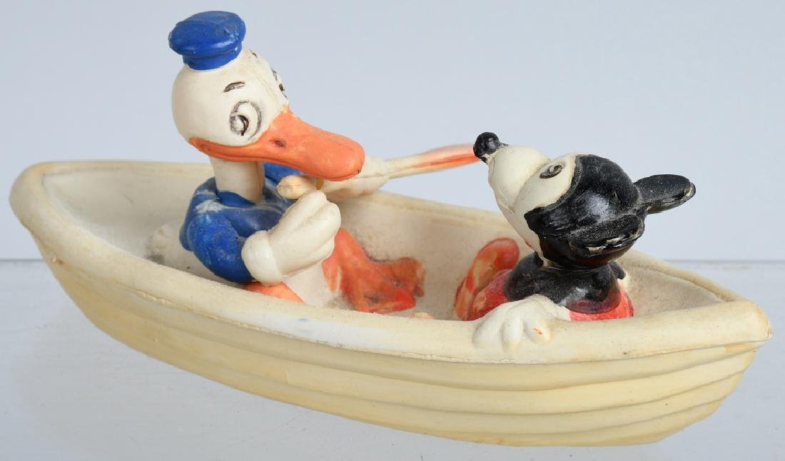 1930's JAPAN CELLULOID DONALD & MICKEY in BOAT - 2
