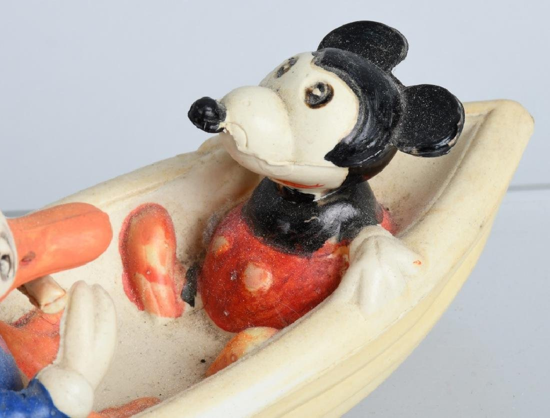 1930's JAPAN CELLULOID DONALD & MICKEY in BOAT - 3