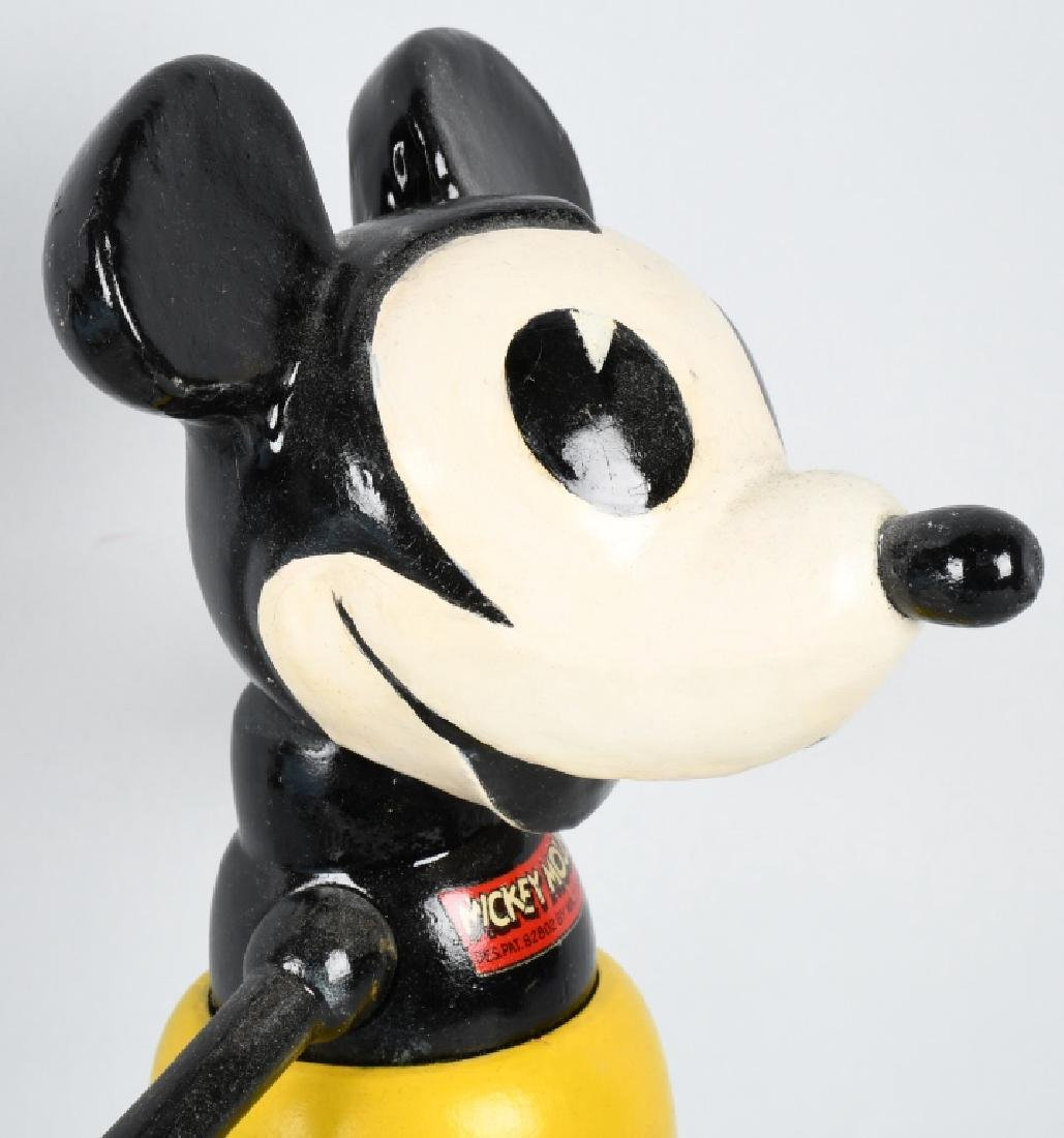 1930'S CAMEO WOOD & COMPOSITION MICKEY MOUSE - 3