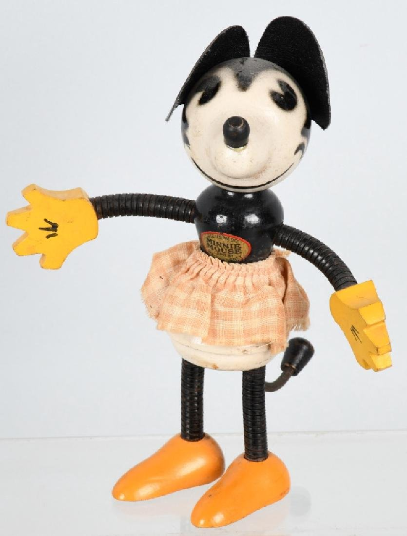 1930's FUN-E.FLEX MINNIE MOUSE JOINTED DOLL