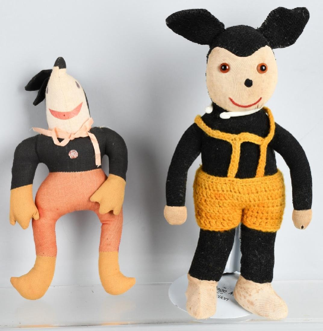 2-1930'S MICKEY MOUSE DOLLS