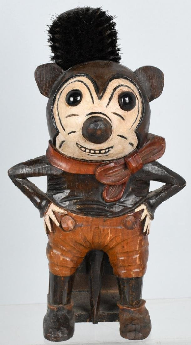 1930's GERMAN BLACK FOREST CARVED MICKEY MOUSE