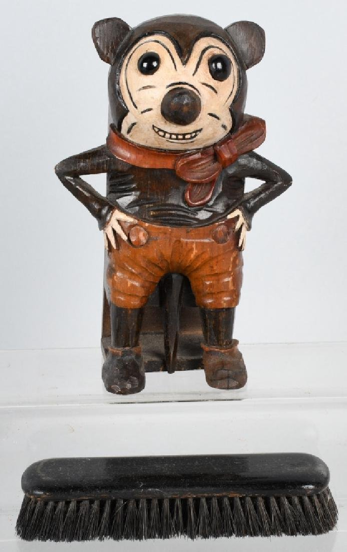 1930's GERMAN BLACK FOREST CARVED MICKEY MOUSE - 4