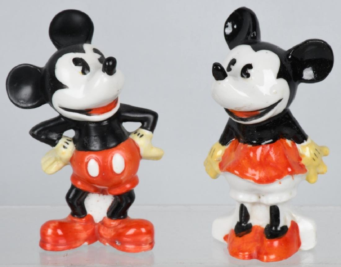 1930'S ENGLAND MICKEY, MINNIE BISQUE FIGURES