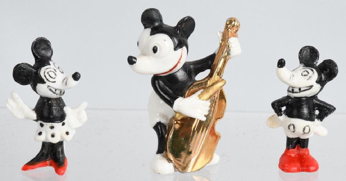 3-1930'S MICKEY MOUSE BISQUE FIGURES