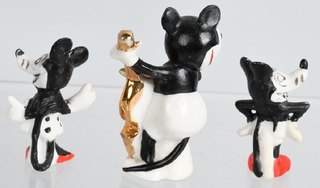 3-1930'S MICKEY MOUSE BISQUE FIGURES - 2
