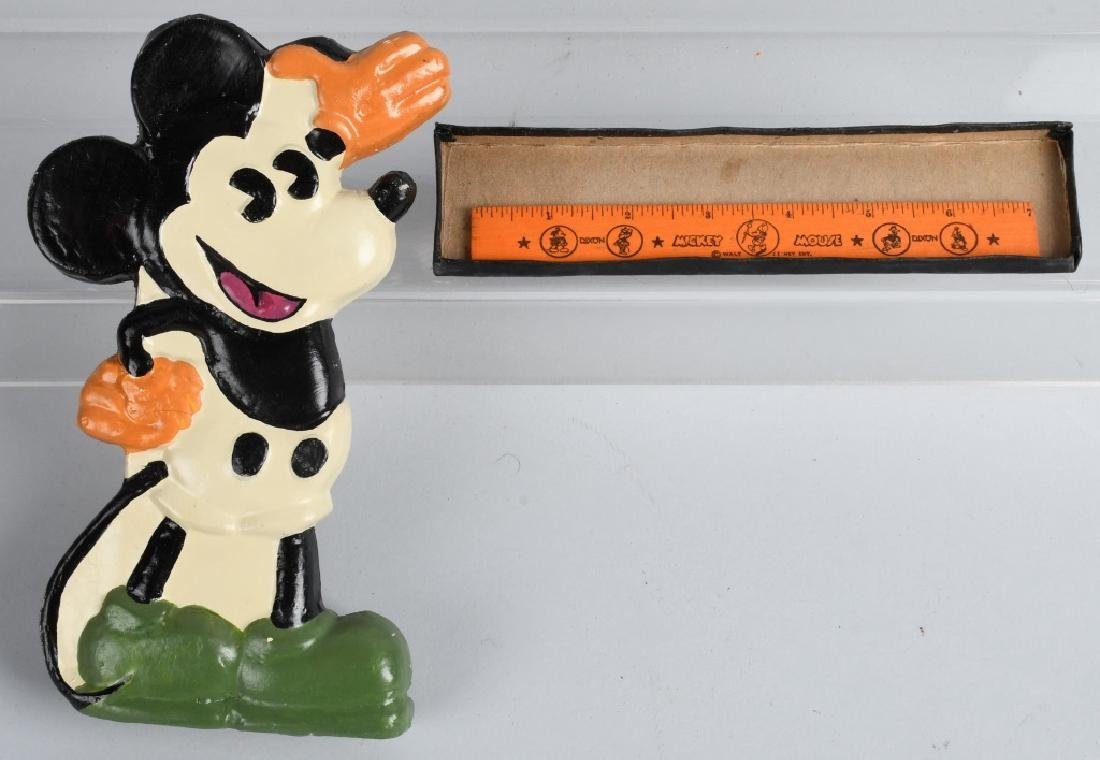 2-1930'S MICKEY MOUSE PENCIL BOXES, 1 FIGURAL - 3
