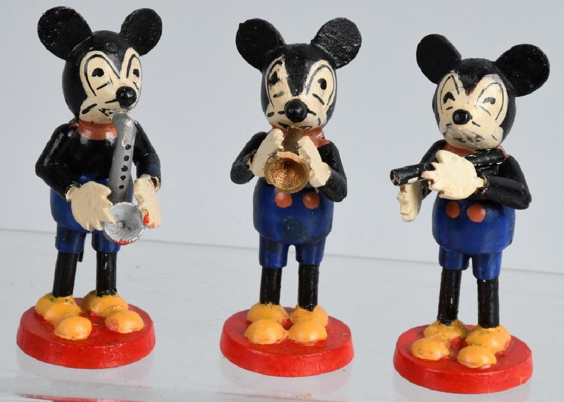 3-1930'S GERMAN MICKEY MOUSE BAND FIGURES
