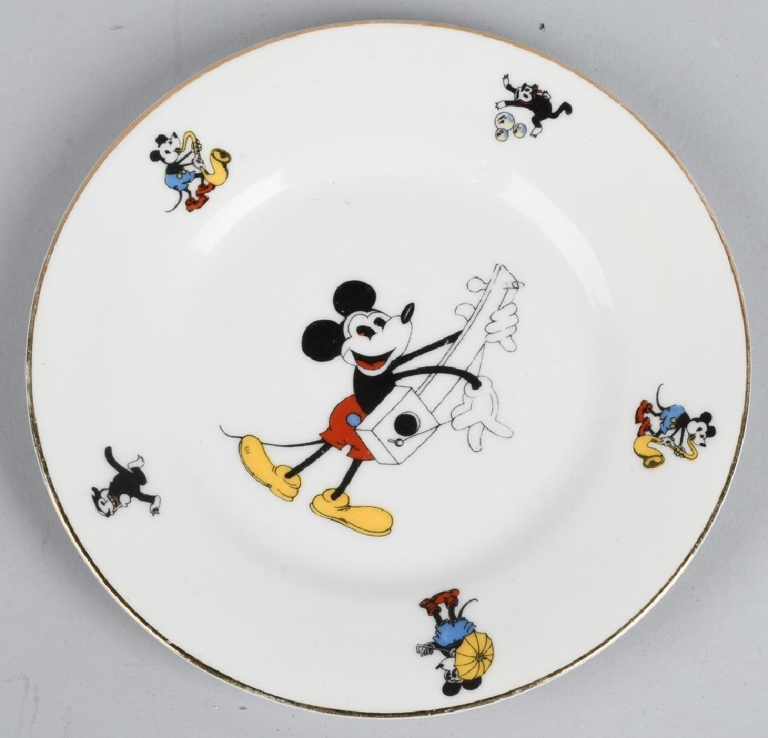 1930'S SCHUMANN MICKEY MOUSE CREAMER & PLATE - 2