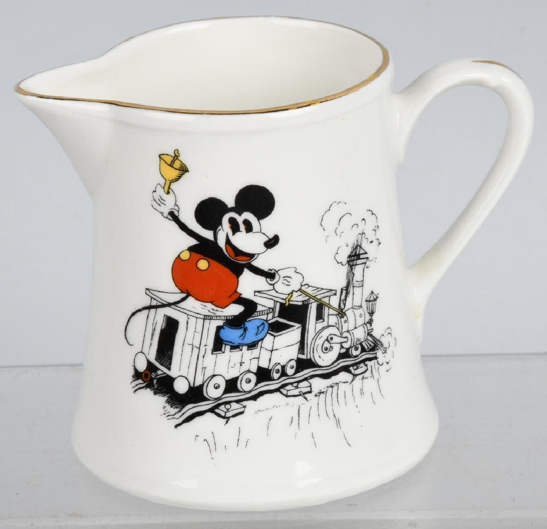 1930'S SCHUMANN MICKEY MOUSE CREAMER & PLATE - 4