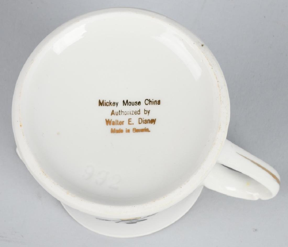 1930'S SCHUMANN MICKEY MOUSE CREAMER & PLATE - 6