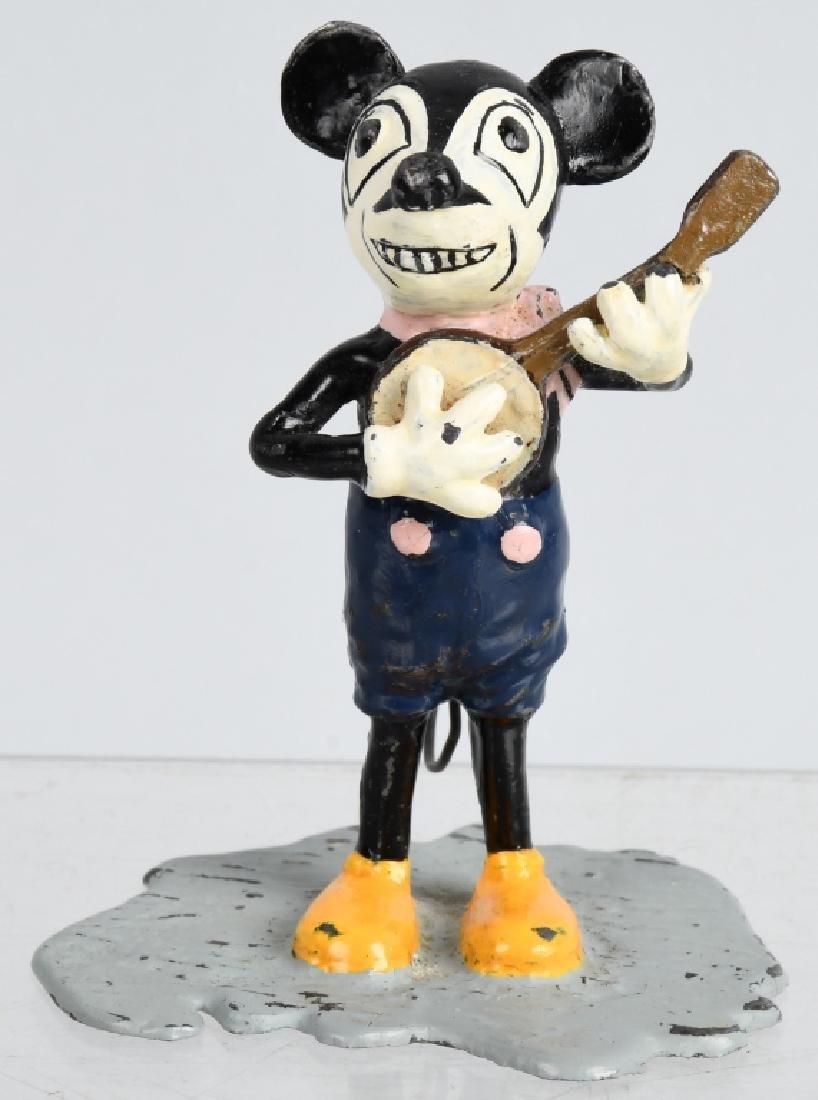 1930'S GERMAN MICKEY MOUSE PAINTED METAL FIGURE
