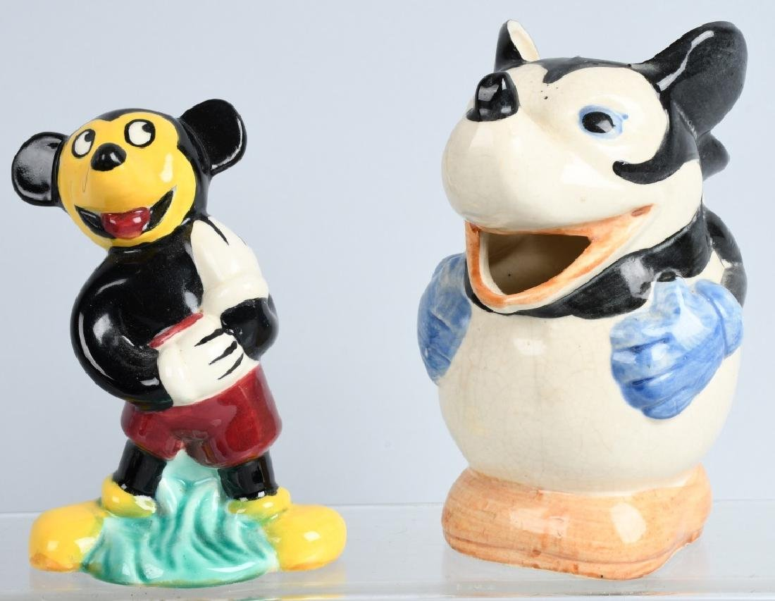 2-1930'S MICKEY MOUSE PITCHER & FIGURE