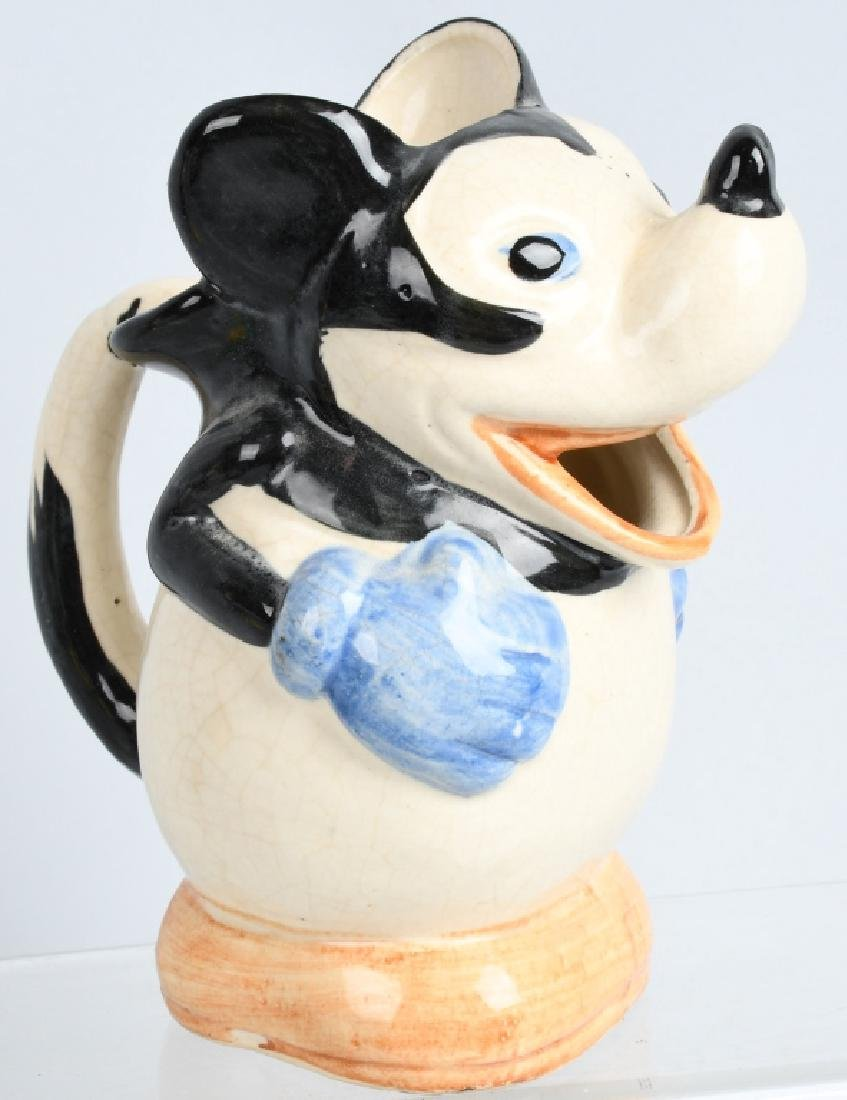 2-1930'S MICKEY MOUSE PITCHER & FIGURE - 2