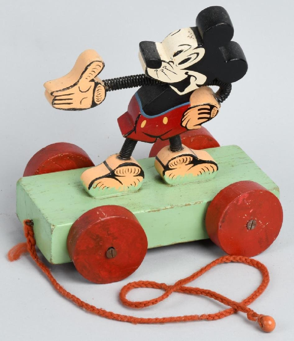 1930'S ENGLISH MICKEY MOUSE PULL TOY