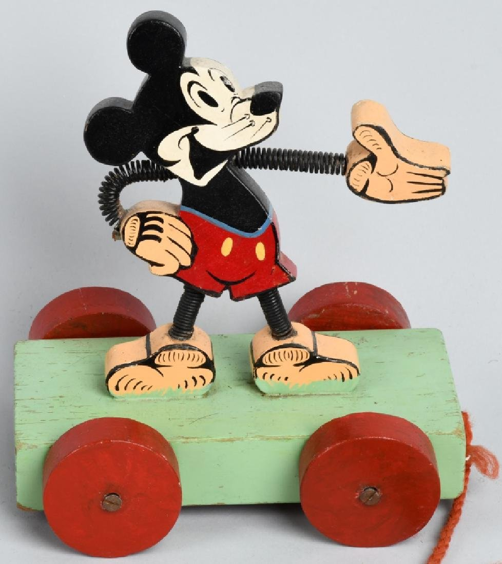 1930'S ENGLISH MICKEY MOUSE PULL TOY - 2