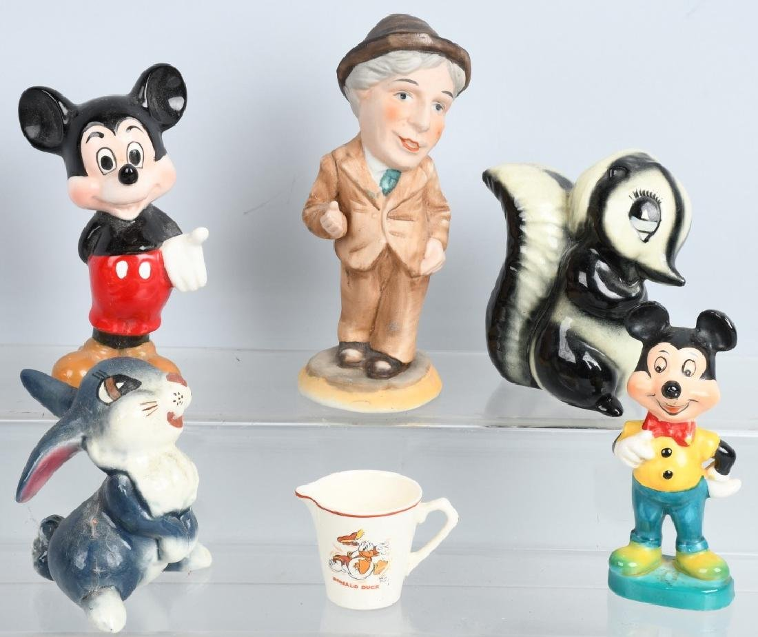 VINTAGE BISQUE & CERAMIC CHARACTER FIGURE LOT