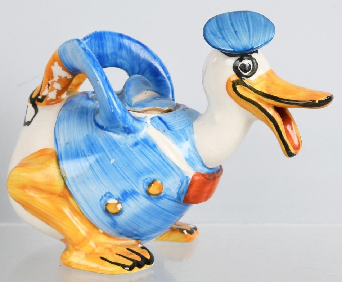 1930'S WADE DONALD DUCK FIGURAL CREAMER - 4