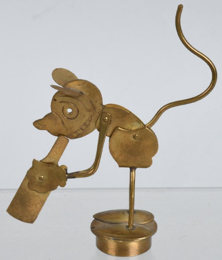 1930'S GERMAN MICKEY MOUSE MECHANICAL STOPPER - 2