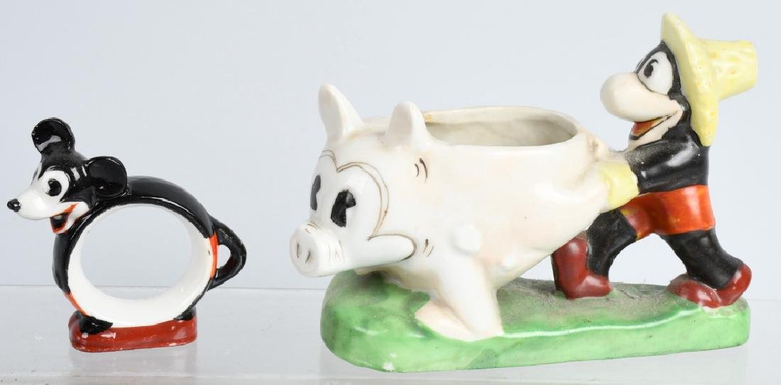 1930'S FLIP the FROG & MICKEY MOUSE BISQUE FIGURE